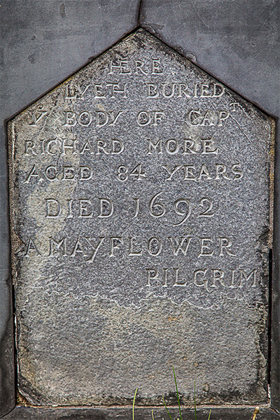 Gravestone of Pilgrim Richard More